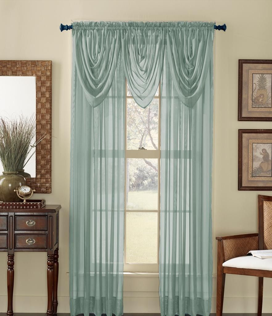 Beautiful Design Curtains For Short Windows : Cool Tone Linked With ...