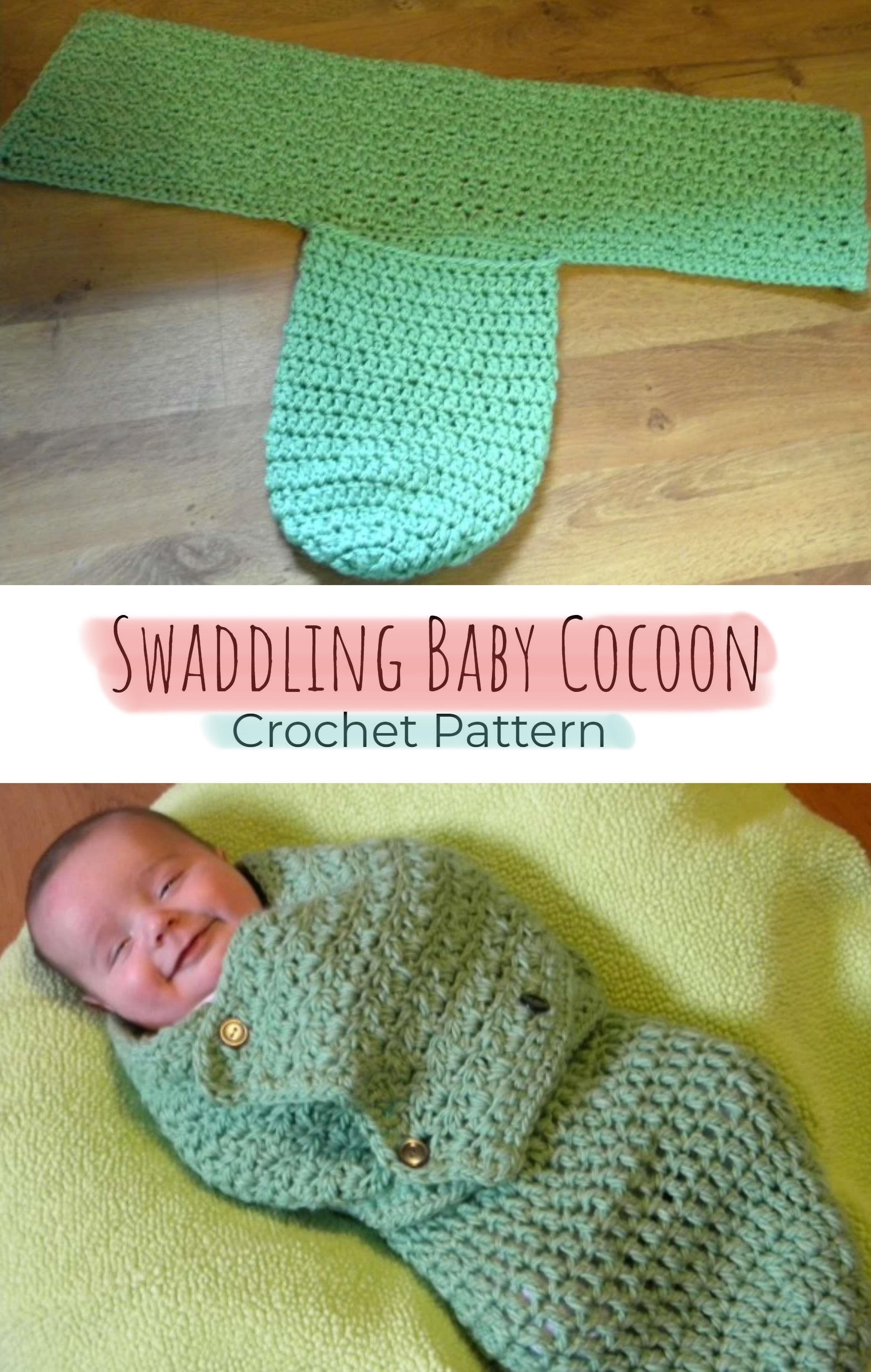 Crochet Swaddling Baby Cocoon #crochetbabycocoon