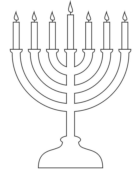 Hanukkah Coloring Pages Menorahs Candelabro Judio Manualidades