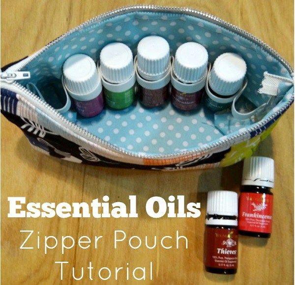 Becky From Patchwork Posse Shows How You Can Make A Zippered Pouch To Hold Set Essential Oil Casezipper Pouchdiy