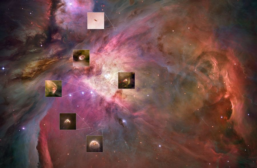 Planetary Systems Now Forming in Orion