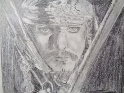 This is a drawing that I did of Jack Sparrow