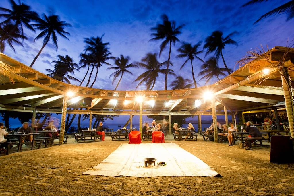 The show entertainment arena by night. Fiji islands