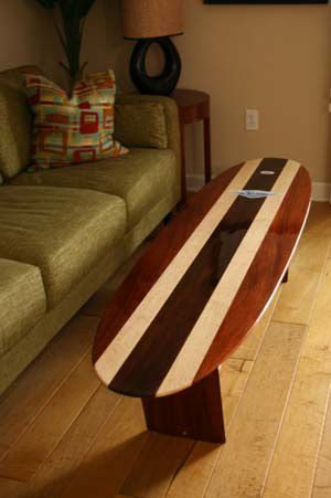 A Surfboard Table! How Gnarly Is That!