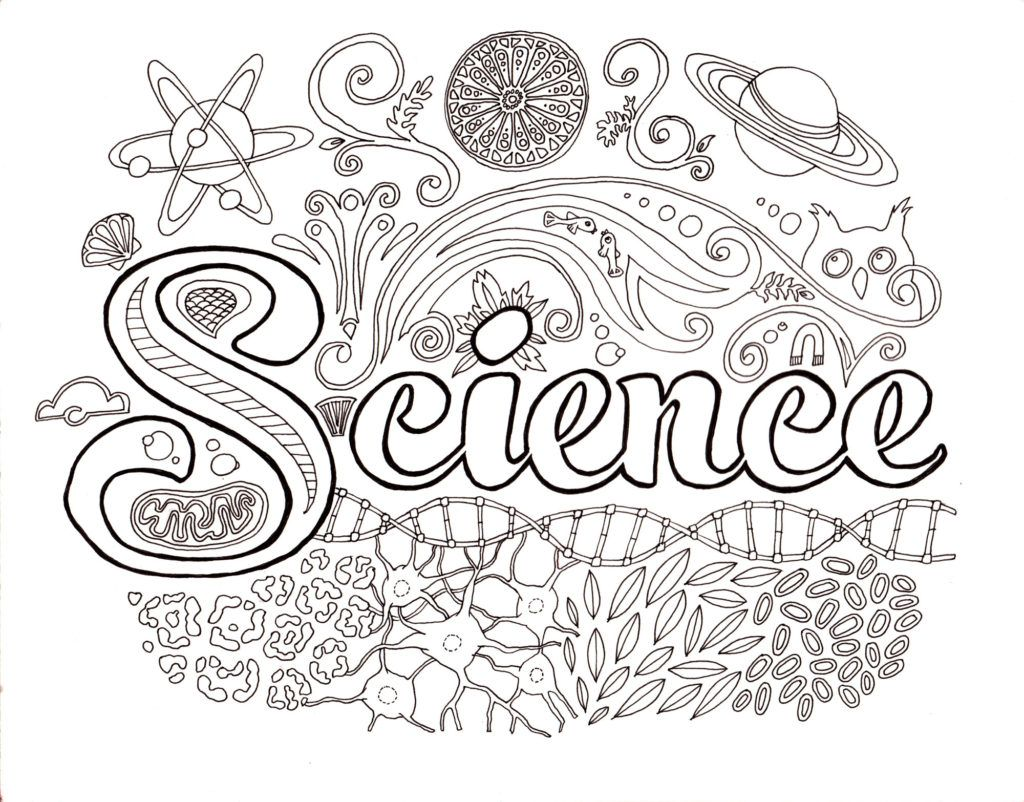 Coloring Pages Easy On The Eye Science Coloring Pages: Science ...