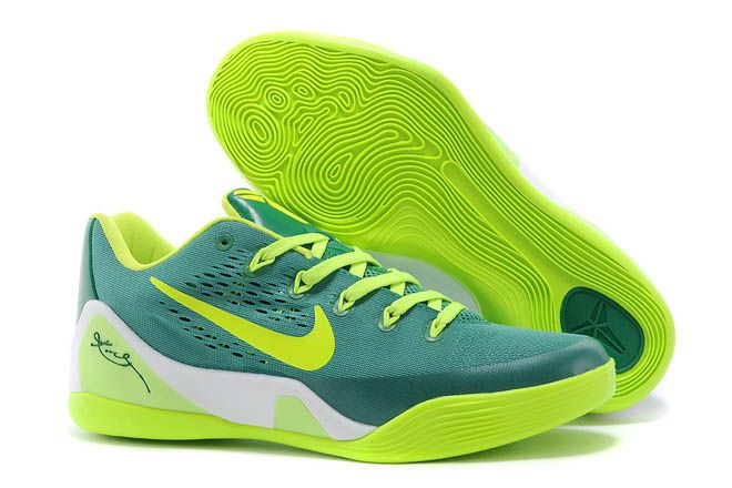 the best attitude 57db1 29821 Fluorescent Green with Green Color Mens Nike Kobe 9 EM Sports Shoes Low-Cut