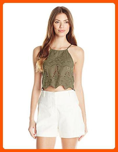 4b6267fb52d Somedays Lovin Women's Serenade Lace Crop Top, Khaki, Medium - All about  women (*Amazon Partner-Link)