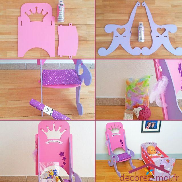Tuto déco fauteuil de princesse en bois pour poupée, bombe de - peinture en bombe pour bois