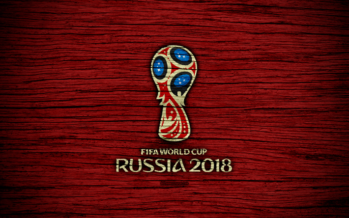 Download Wallpapers 4k Fifa World Cup 2018 Wooden Texture Russia 2018 Logo Soccer Fifa Football Logo Soccer World Cup Red Background Russia 2018 Besth World Cup Fifa World Cup Soccer World