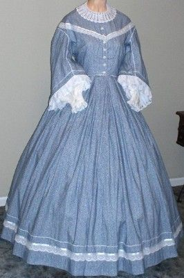 pioneer woman clothing 1800. 19th century clothing 1858 pioneer settler | 1860s pagoda day or evening dress, woman 1800