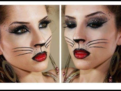 Sexy cat costume makeup