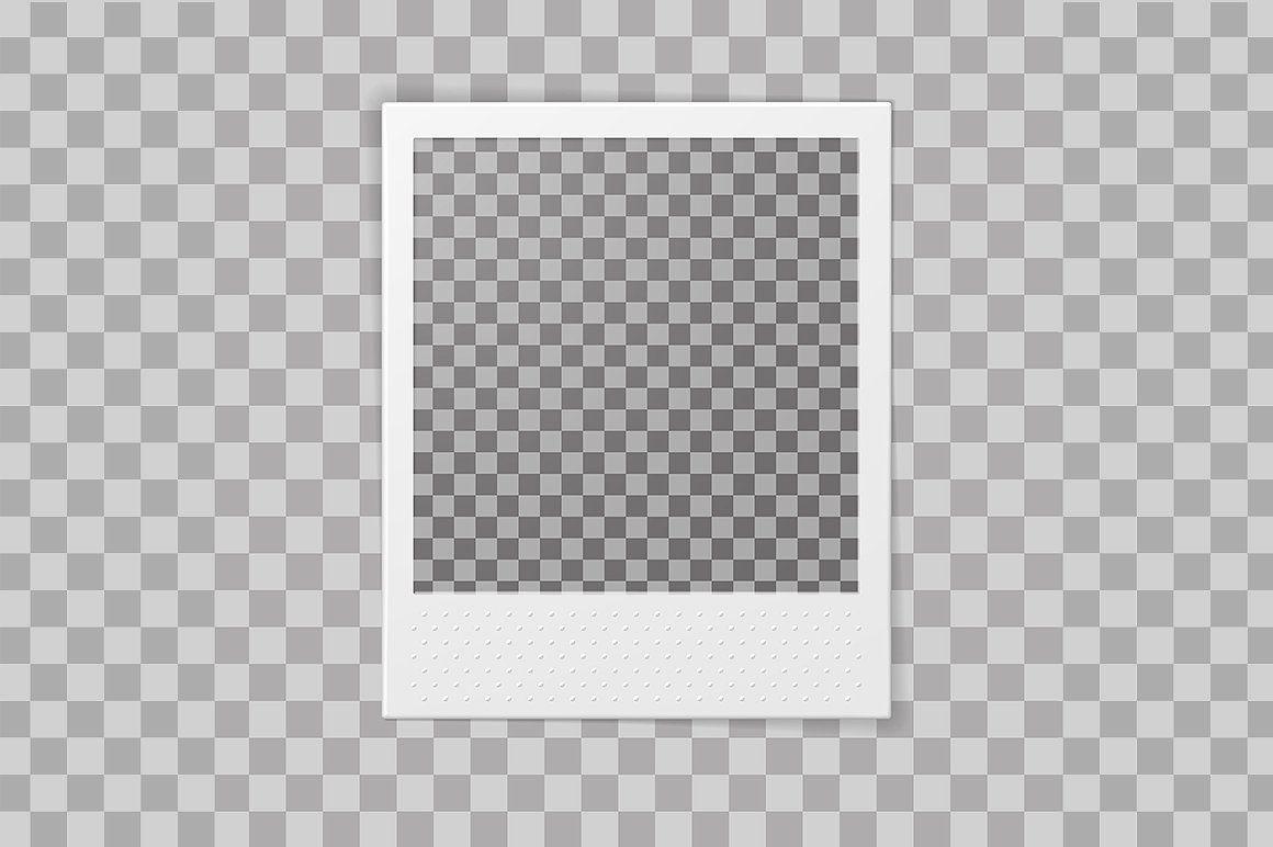 Polaroid Photo Frame Zip File Added Vector Photo Frame Design Polaroid Picture Frame Polaroid Frame
