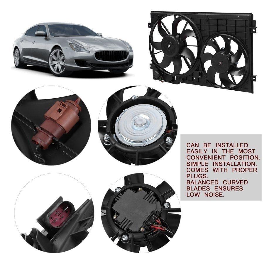 Dual Engine Radiator Cooling Fan Electric Motor Engine Fan Car Accessory Black Electric Cooling Fan Car Accessories Electric Motor