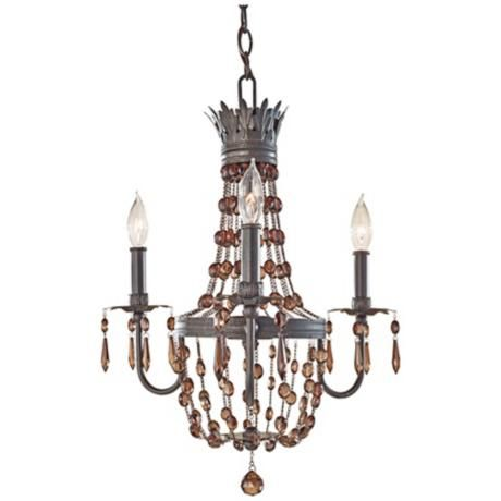 Murray Feiss Marcia 3-Light Chocolate Crystal Chandelier -