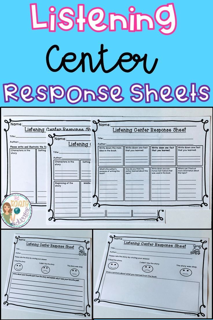 Listening Center | Pinterest | Worksheets, Students and Kindergarten