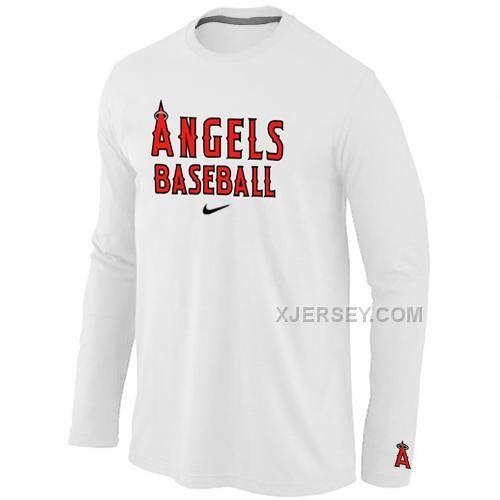 http   www.xjersey.com los-angeles-angels-long-sleeve-t-shirt-white ... df182cbdf