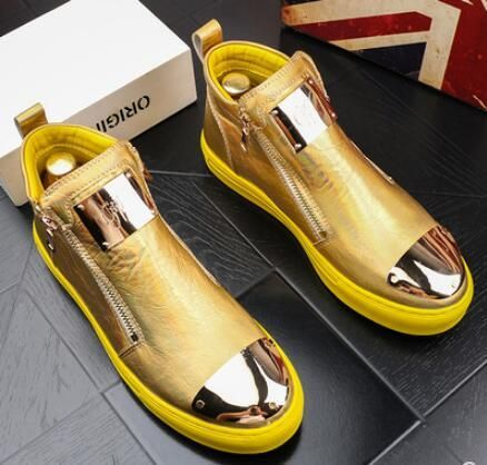 high quality men high top british style shoes mens causal