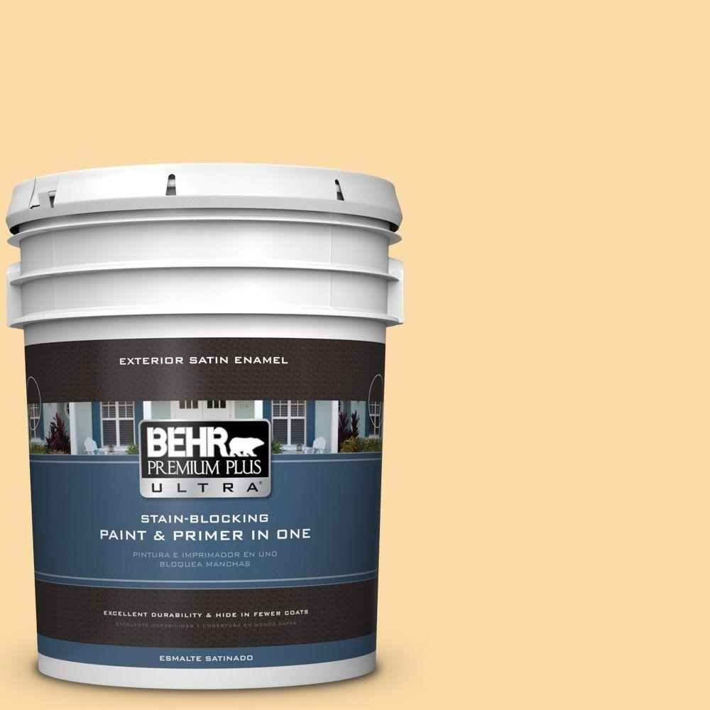 BEHR Premium Plus Ultra 5-gal. #M290-3 Corn Stalk Satin Enamel Exterior Paint