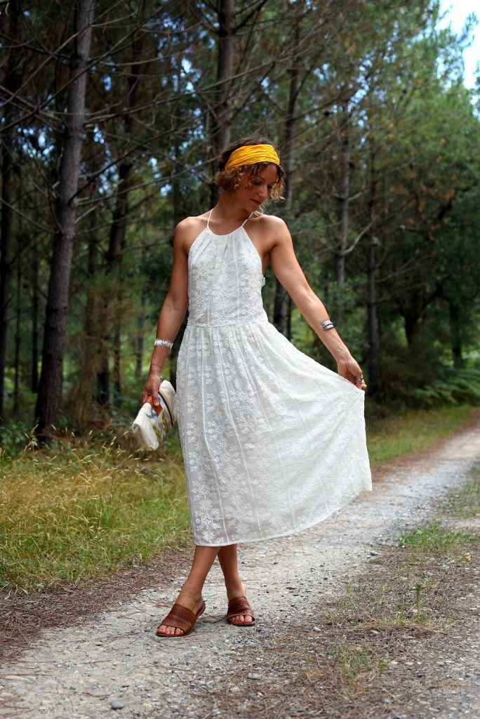 Bohemian white embroidered Dress - Rock my Casbah