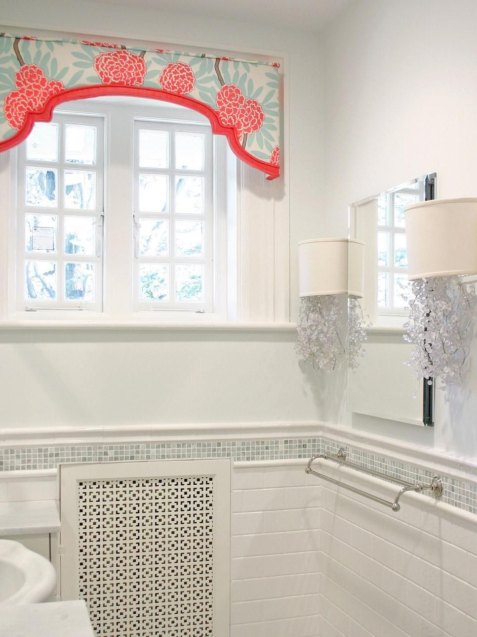 Small window ideas  bathroom gets a girly makeover  ideas for the home  pinterest