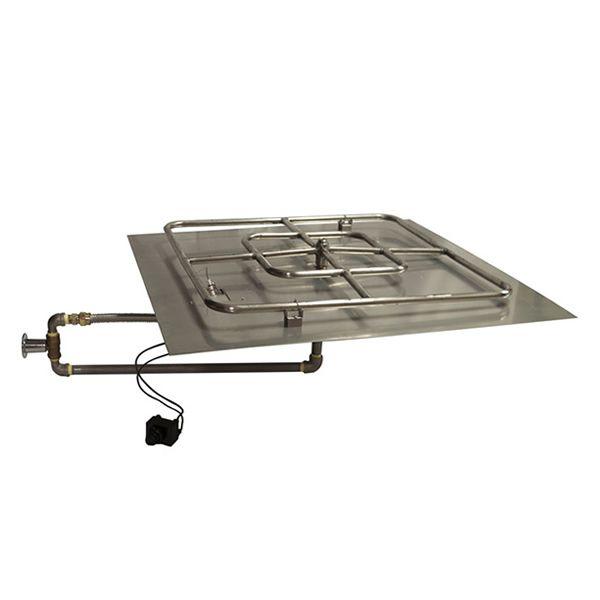 Push Button Square Pan Insert Kit 30 Fire Pit Insert Square Fire Pit Gas Fire Pit Kit