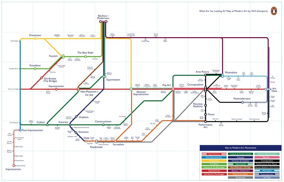 Putting Modern Art On The Map Will Gompertz's tube map-style guide ...