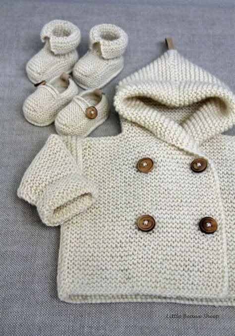 Tutorial paso a paso para tejer un adorable jersey de bebé de punto ...