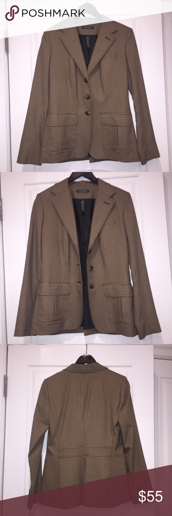 Ralph Lauren Women's Suit Blazer size 4 the chicest brown blazer for any women! perfect to impress at job interviews and at work regularly! the most complimenting shades of brown! very flattering shape! used but in great condition Lauren Ralph Lauren Jackets & Coats