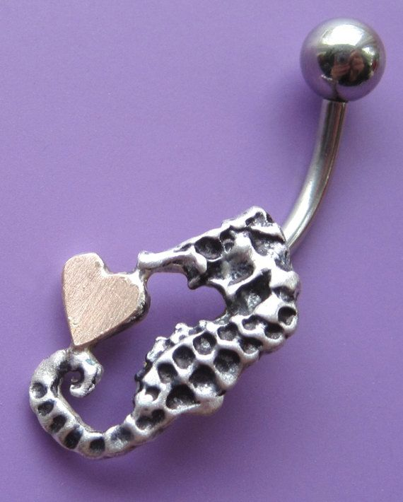 Seahorse Love Belly Button Ring | EtsyMetal - Handmade ...