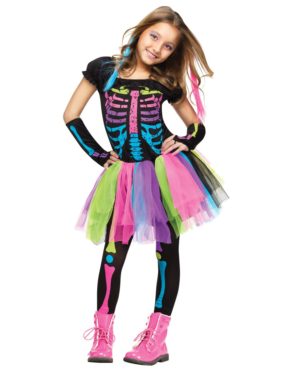 Funky Punky Bones Child Costume at Spirit Halloween - Skeletons ...