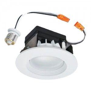 Halo Rl460wh830pk Led Downlight Kit 4 Led Recessed Retrofit Module W Trim 3000k 80 Cri White Recessed Lighting Trim Recessed Lighting Recessed Lighting Kits 4 inch led recessed lighting kit