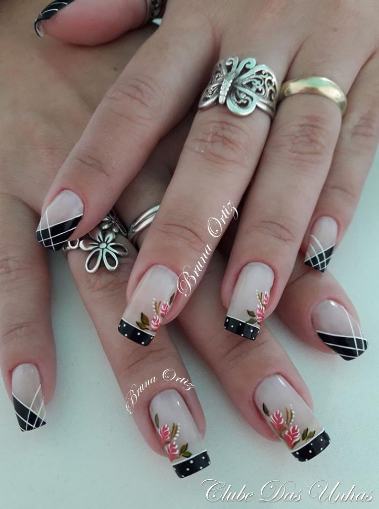 Modelos de unhas decoradas francesinhas modernas jm pinterest absolutely adore these the design is not only pretty but elegant feminine as well no name given for credit prinsesfo Choice Image