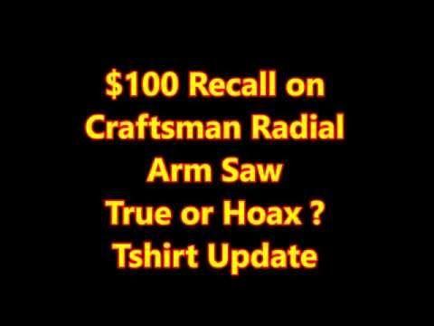 Craftsman Radial Arm Saw Safety Kit (Recall and Retrofit) - YouTube