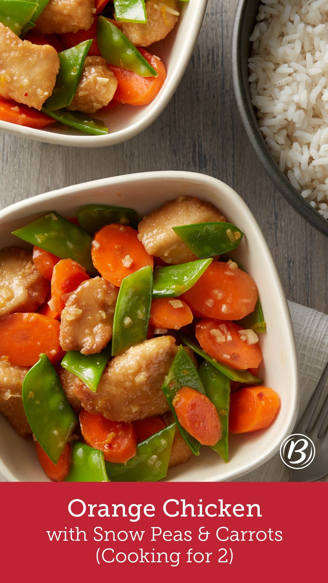 Orange Chicken with Snow Peas and Carrots (Cooking for 2) #chinesemeals