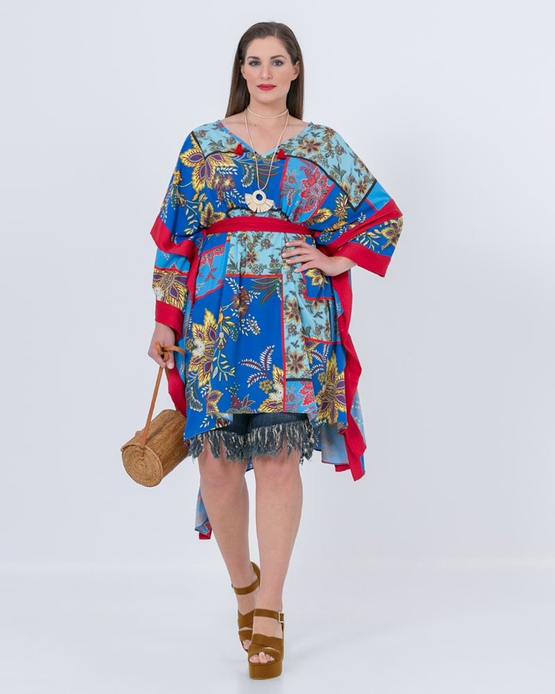 4dde07870573 Εμπριμέ τουνίκ με ζώνη — mat. XXL sizes — Γυναικεία Ρούχα