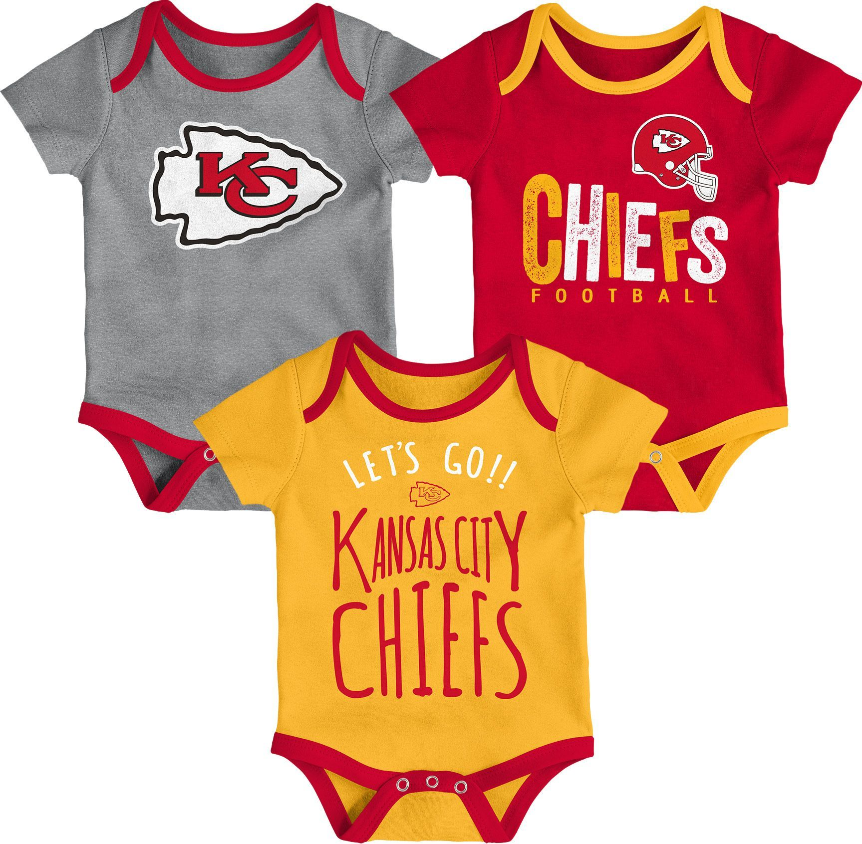 e9921931 NFL Team Apparel Infant Kansas City Chiefs Tailgater 3-Piece Onesie ...
