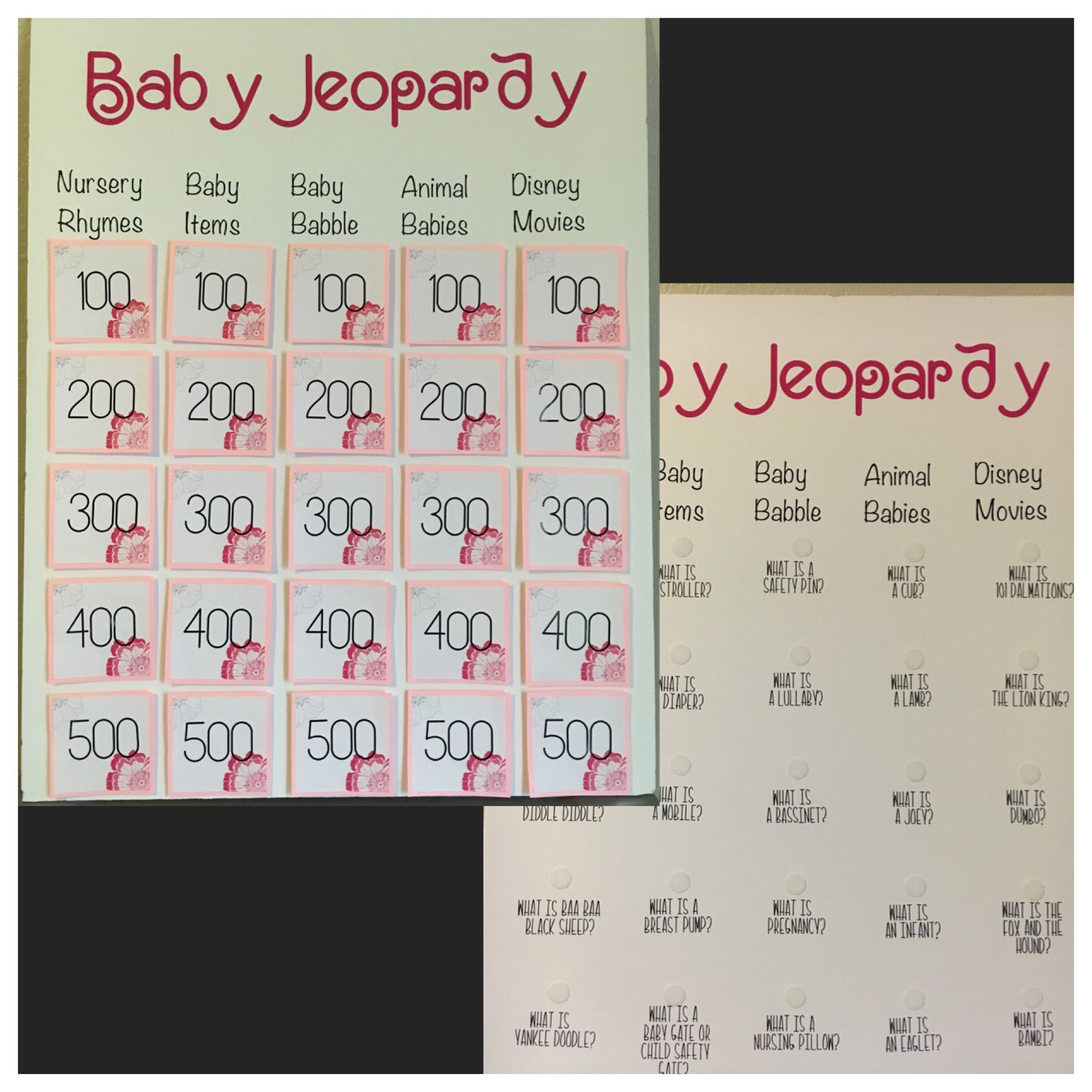 Exceptional Baby Jeopardy Made This Game For My Sisteru0027s Baby Shower. I Love How It  Turned