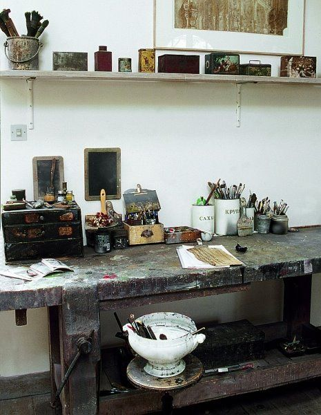 Work Space In Beautiful French Country House