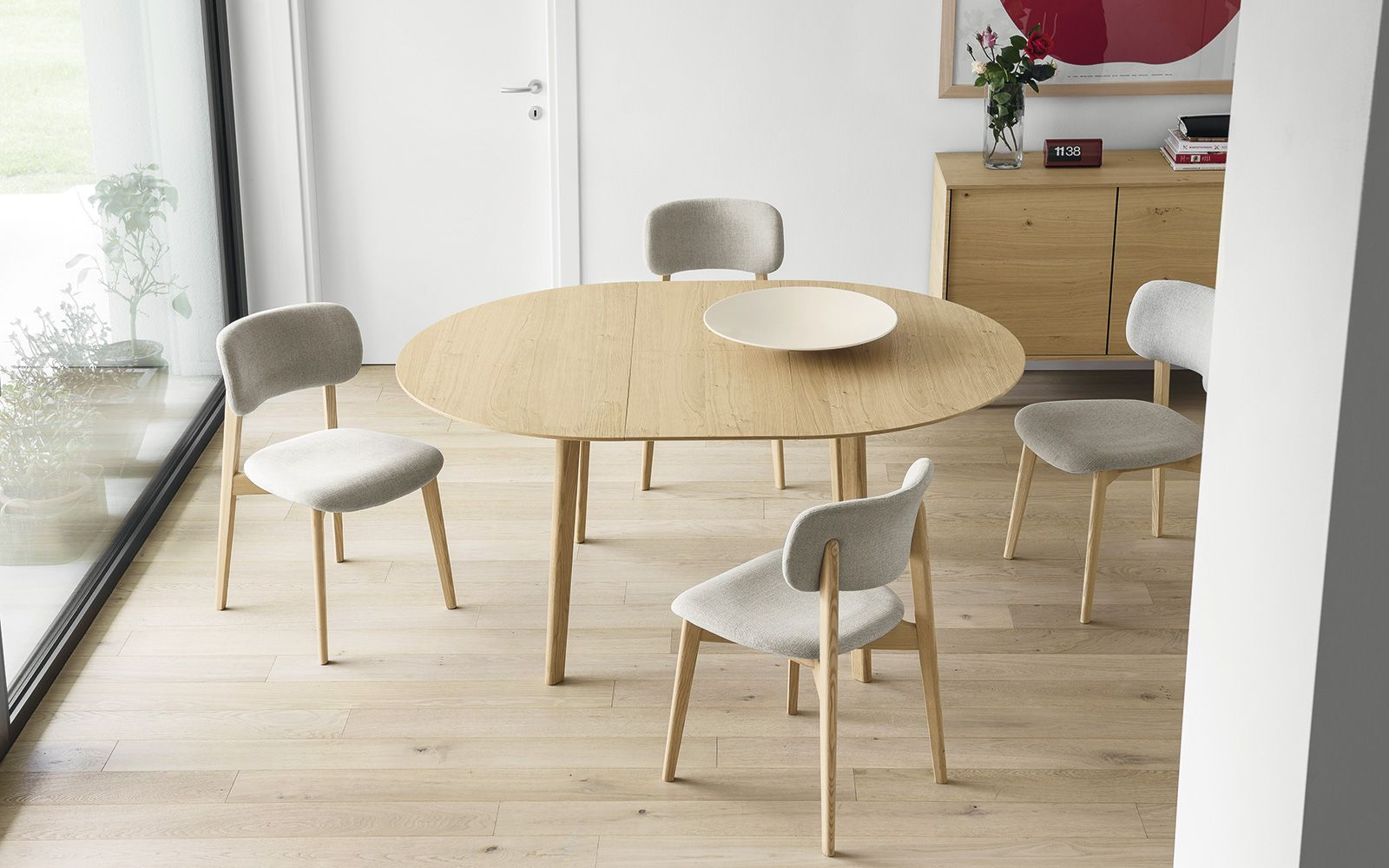 Tavolo Industriale Allungabile : Tavolo rotondo allungabile cream table calligaris cs 4063 rd