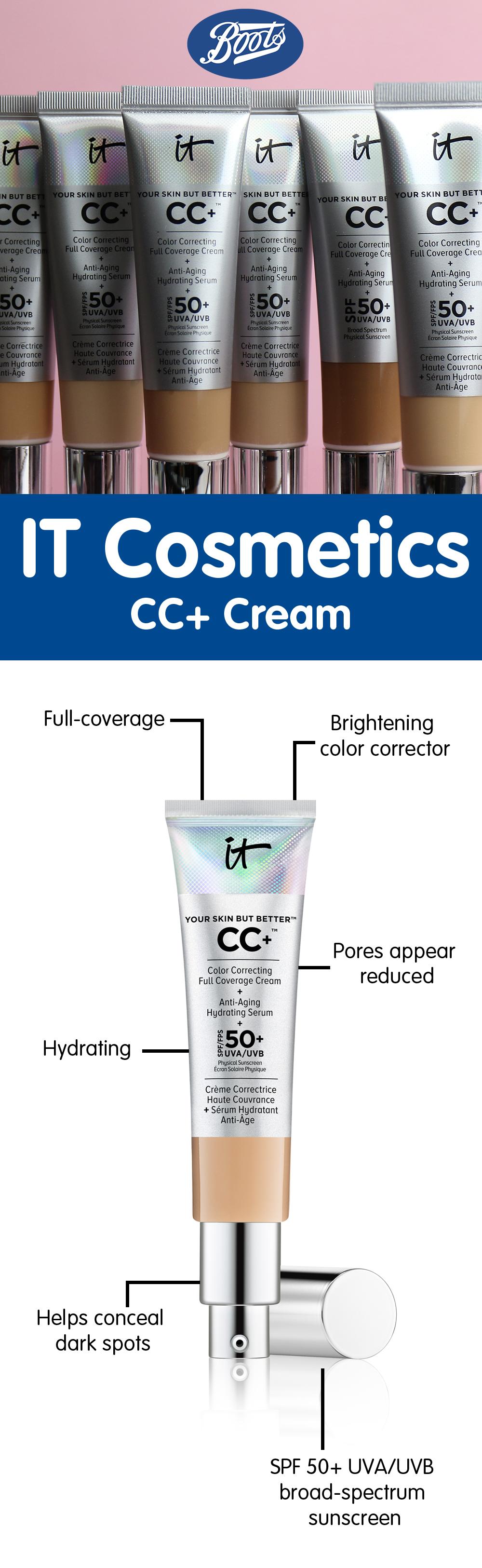 IT Cosmetics CC+ Cream It cosmetics cc cream, Spf 50