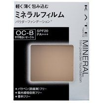 Kanebo KATE Mineral Film Powder Foundation Ocher B. Powder foundation just like wrapped with a thin and light film. With Cover powder that covers ores, skin redness and dark rings. Color: OC-B(Light ocher) / SPF 20/PA+++ / Paraben-free, UV absorber-free, fragrance-free. Made in Japan. The case is sold separately.