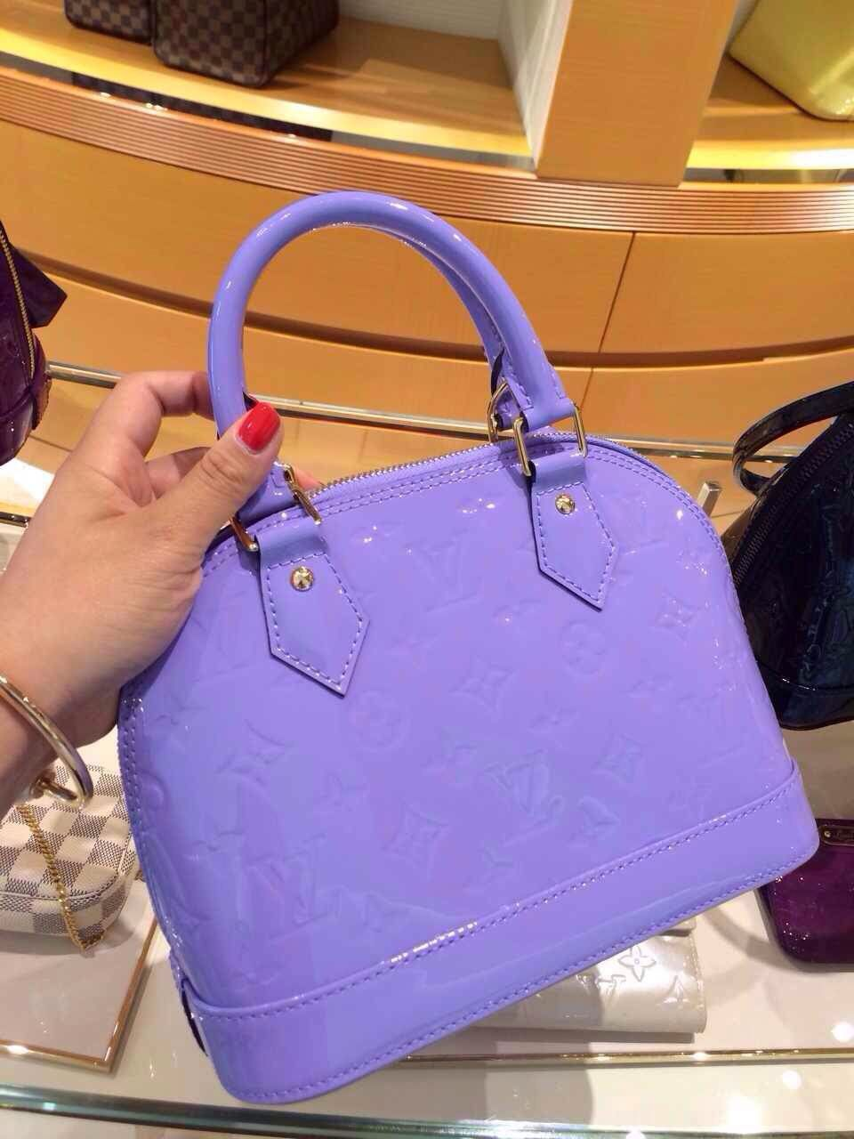 0dce02e8db3c Popular Color Louis Vuitton Vernis Alma BB Bag Lilas
