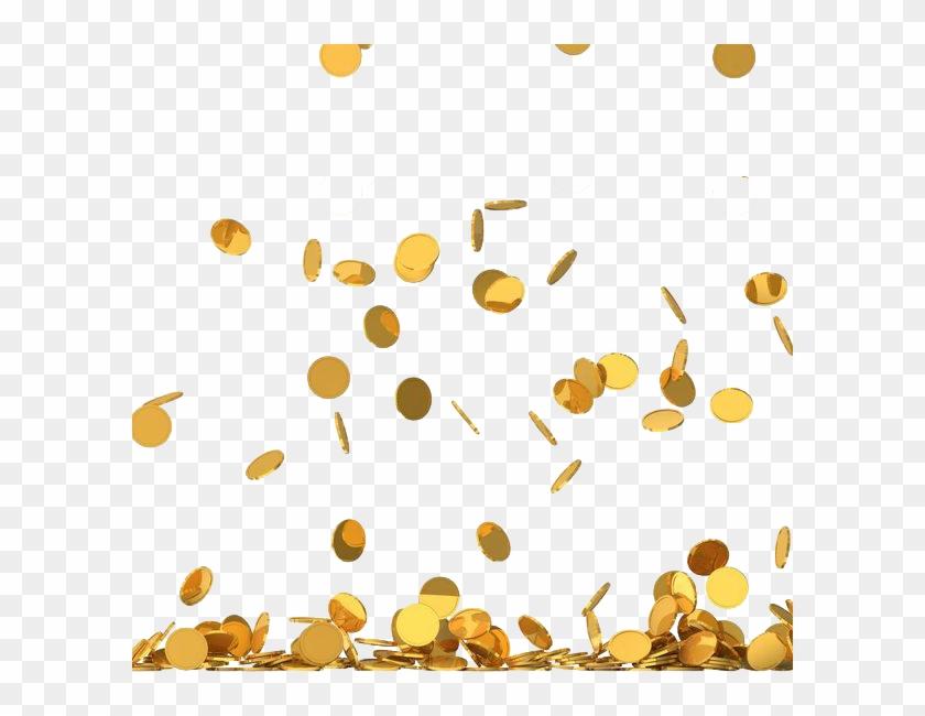 Money Png Gold Coin Rain Png Transparent Png 600x570