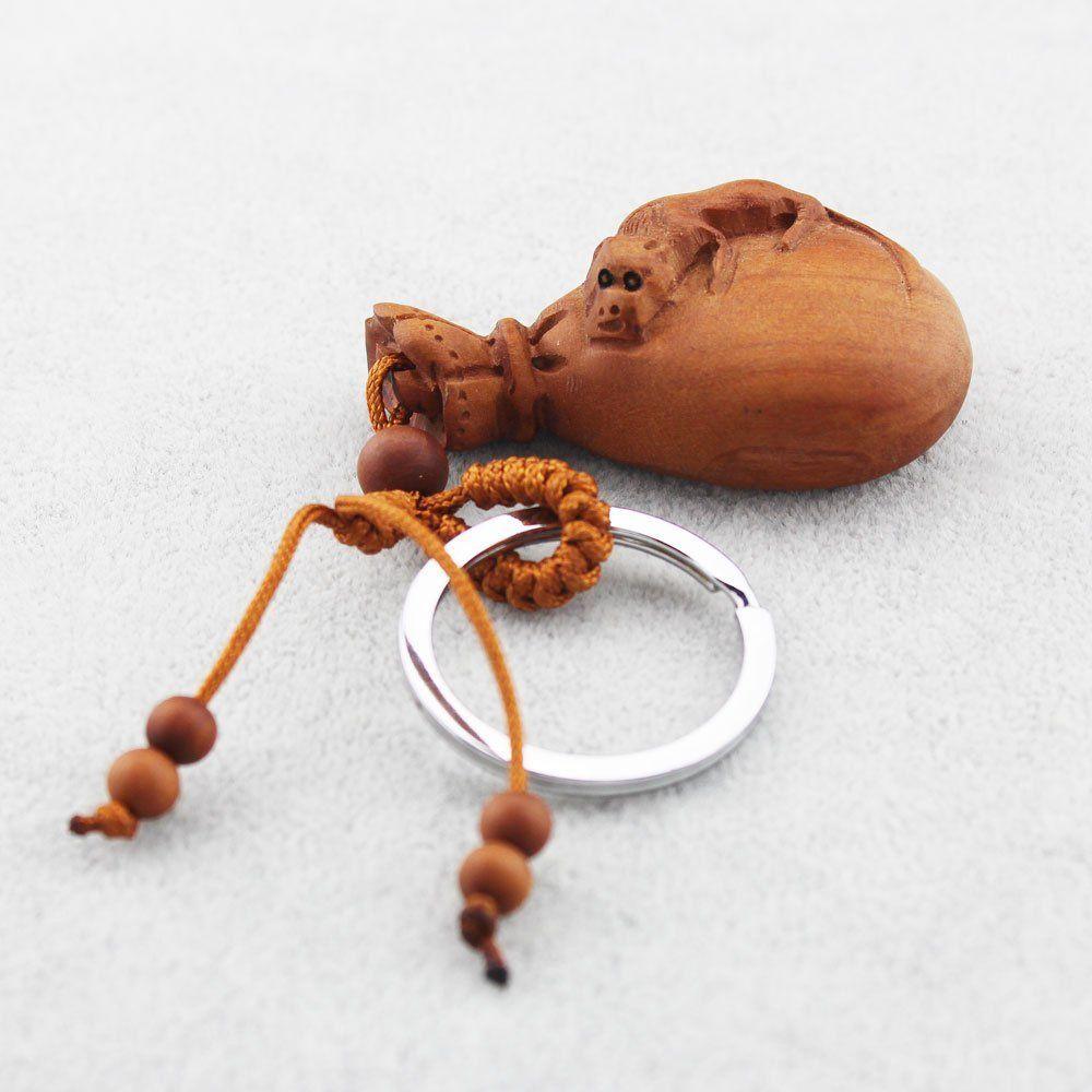 Amazon.com: Foy-MALL estereoscópica bolsa de dinero con Pixiu azufaifa de madera tallada anillo de coche / Bolsa Clave Hombres / Mujeres M1168: Productos de oficina