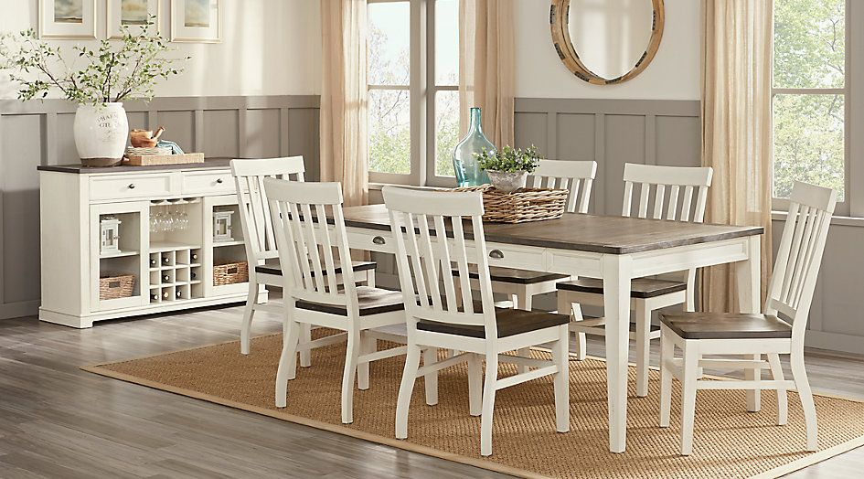 Keston White 5 Pc Rectangle Dining Room Rectangle Dining Room