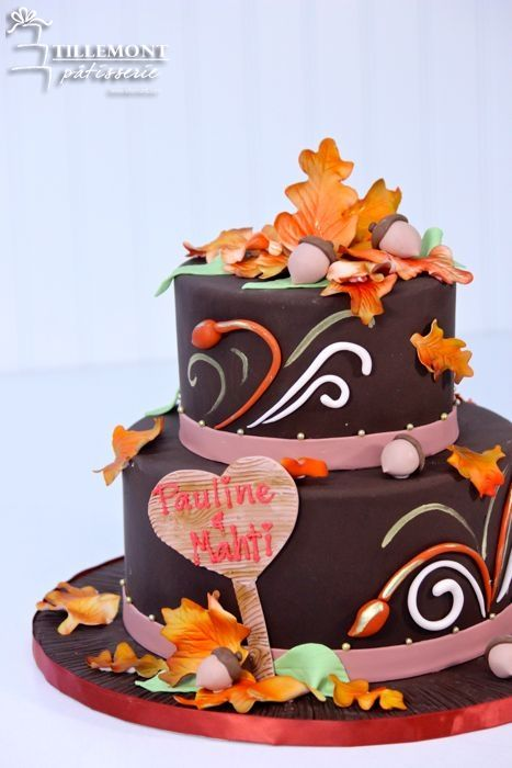 2 Tier Fall In Love Engagement Cakes Patisserie Tillemont