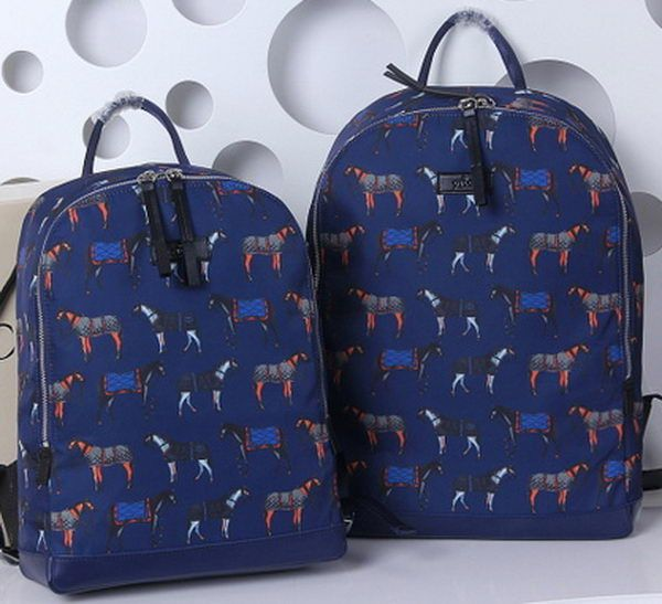 07faea3c5757 Gucci Horse Print Backpack 353476 Blue