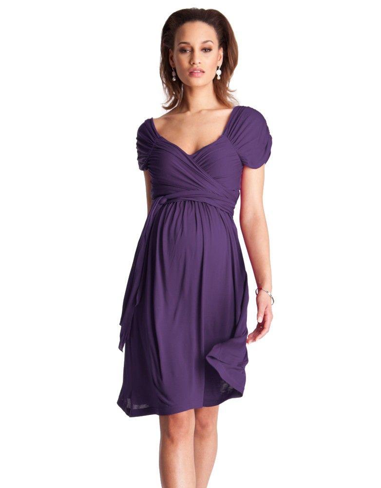 Purple Sash Tie Maternity Dress |Seraphine Maternity | Bridesmaid ...