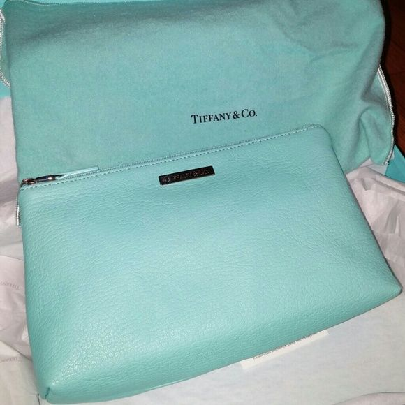 04a3a343d86 Tiffany Makeup Bag Nwot New With Out Tags Leather Make Up Authentic No  Longer Available In