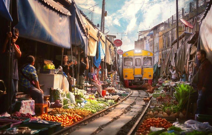Maeklong Railway Market Thailand Australia Tailandia Bangkok
